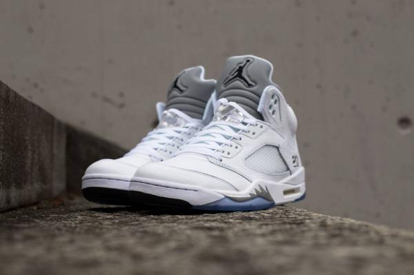Jordan 5 Retro - White/Metallic Silver